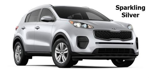 kia sportage silver 2017 kia sportage release and available colors