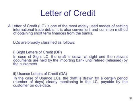 Bank Letter Of Credit Charges Presentation Overview Of Bank Audit