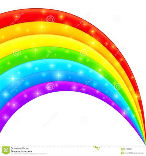 clipart arcobaleno arcobaleno brillante luminoso di plastica di vettore