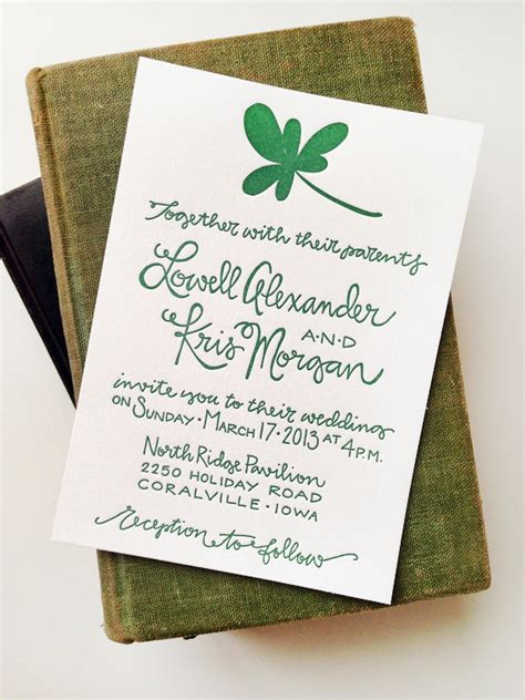 day wedding invites kris lowell s st s day wedding invitations