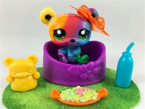 littlest pet shop ultra rainbow 2584 w bed