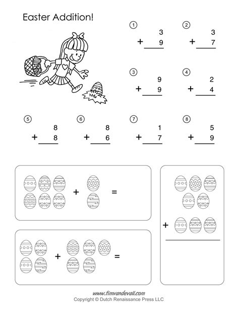 printable math activity sheets printable easter math worksheets easter math activities