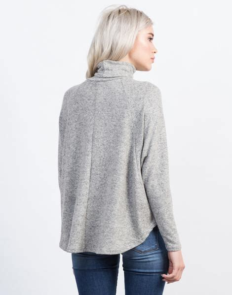 flowy turtleneck top grey shirt cowl neck top 2020ave