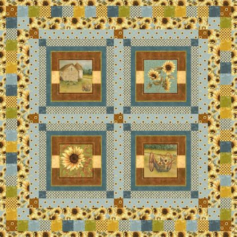 Farm Quilt Patterns by Sunflower Farm By Newcastle Quilting Pattern
