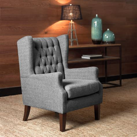 overstock living room chairs maxwell salt and pepper wing chair overstock shopping