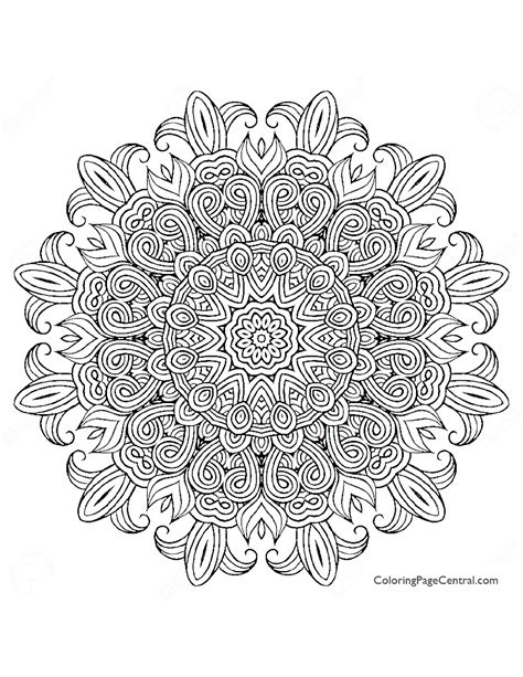 round mandala coloring pages mandala circle 01 coloring page coloring page central