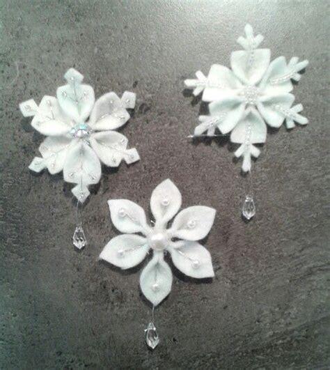 easy felt snowflake ornaments crafthubs felt crafts