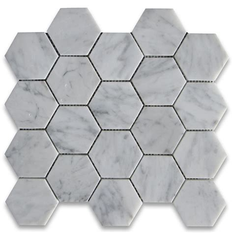large hexagon floor tile mosaic tiles masters kitchen