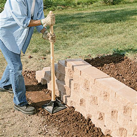 Keystone Pavers Home Depot Build A Retaining Wall With Landscape Blocks Garden Club