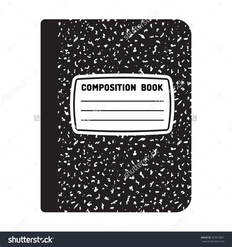 Light Cover Clipart Clipground Composition Book Cover Template