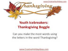 thanksgiving words that start with t youth icebreakers thanksgiving boggle
