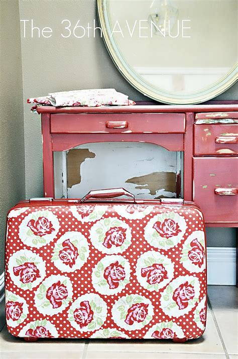 how to decoupage a suitcase the 36th avenue diy no sew window valance the 36th avenue