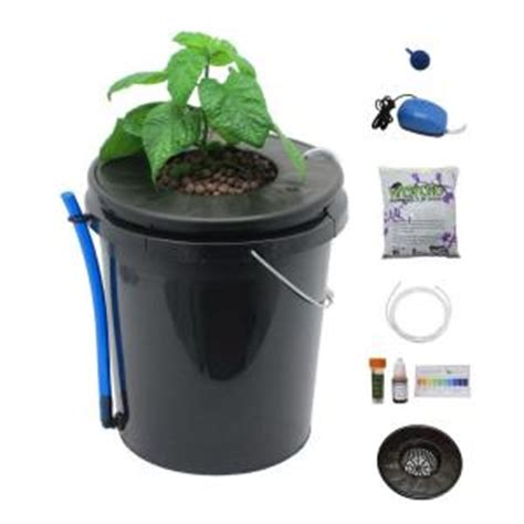 viagrow black bucket deep water culture hydroponic system
