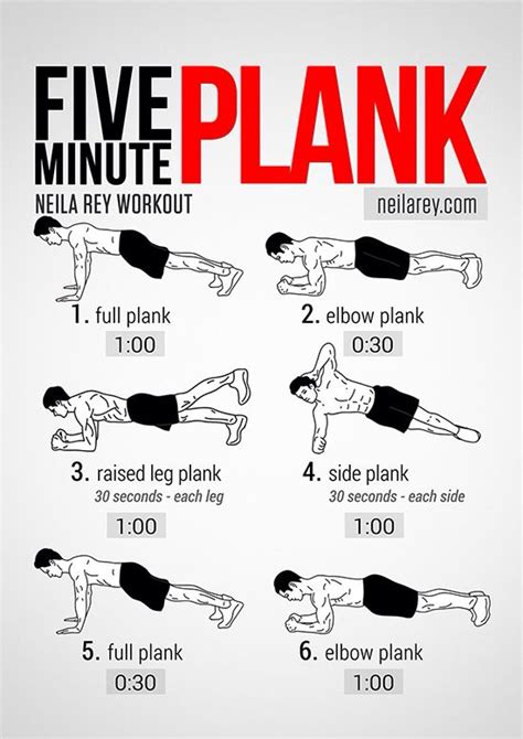 5 minute plank workout fitness