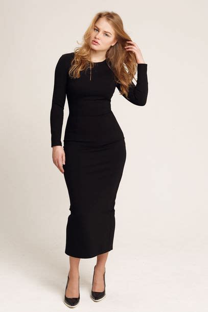 Kasandra Longdress dress bodycon black maxi dress black maxi dress