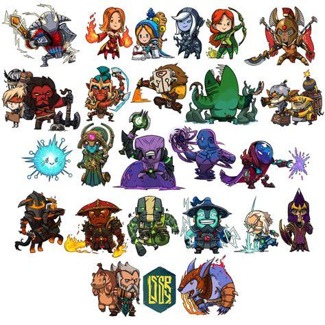 Chibi Dota 5 24 chibi heroes dota2 chibi