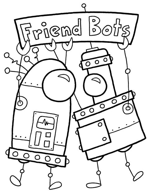 free coloring pages of robot hand