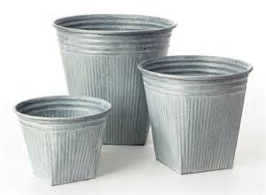 galvanized planters large images