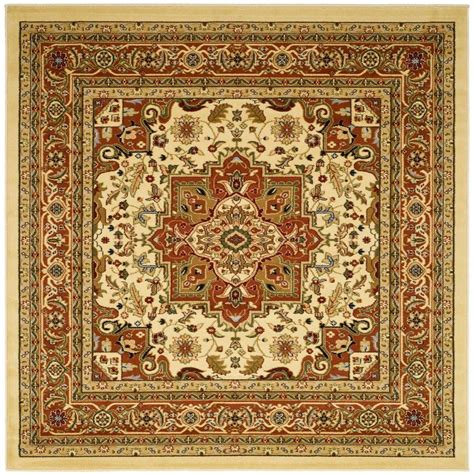 10 X 10 Ft Square Rug - safavieh lyndhurst ivory rust 10 ft x 10 ft square area