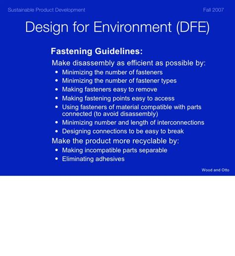 design for environment dfe design is the problem