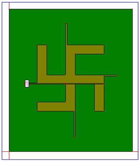 design  swastika shaped wideband microstrip patch