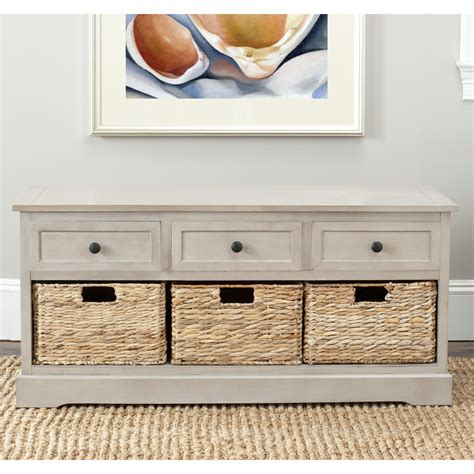 drawer storage bench beachcrest home mckinley 3 drawer storage entryway bench