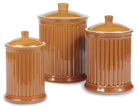 kitchen jars and canisters shop houzz omniware simsbury canisters citron set of 3