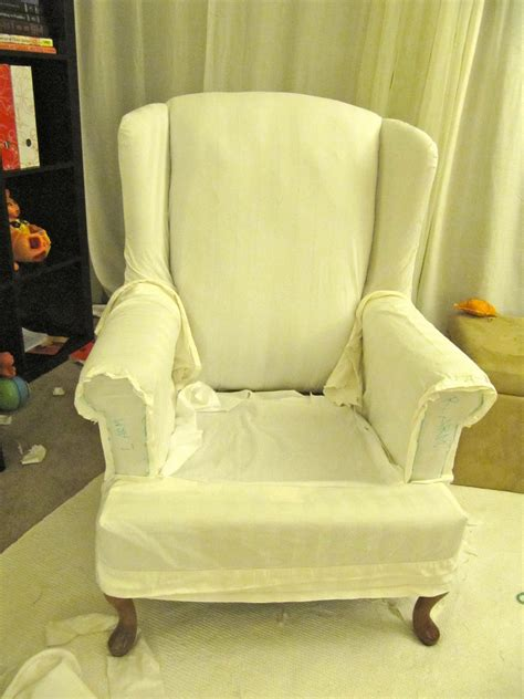 Chair Slipcovers - my wing chair slipcover reveal
