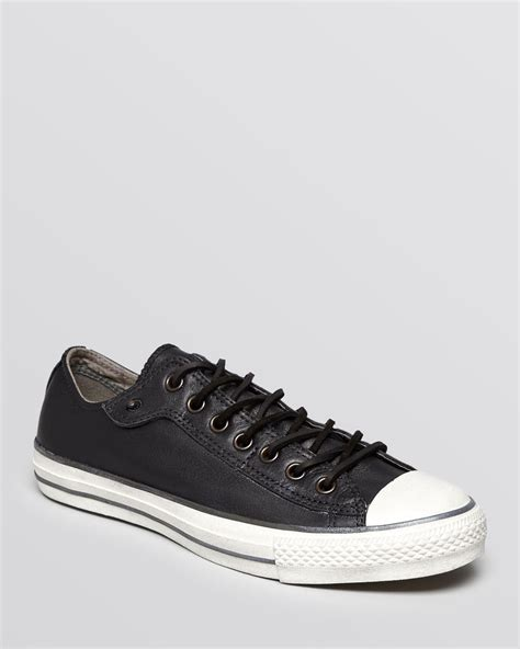 converse chuck all low top sneakers in black for lyst