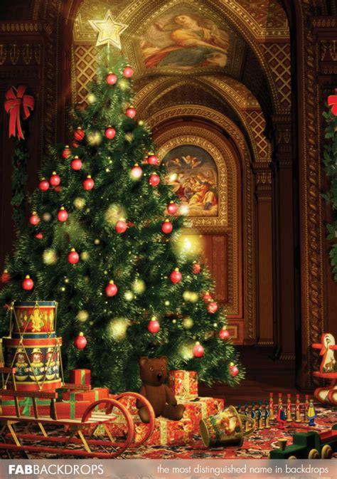 fab drops oh christmas tree holiday backdrop