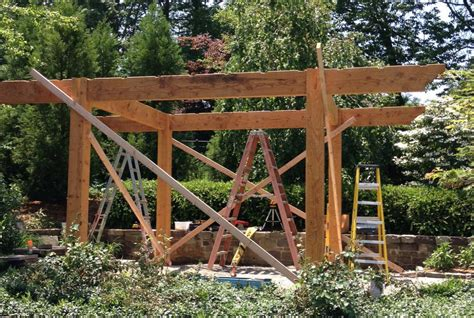what to expect start to finish diy timber frame pergola