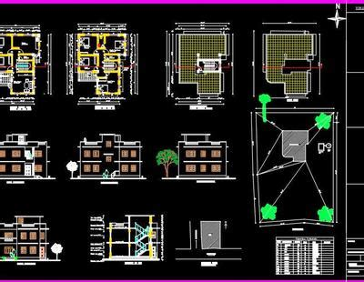 residential building submission drawing  dwg