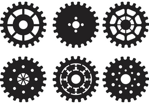 bike sprocket vector silhouettes download free vector