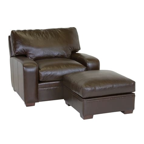 Classic Leather 4510 Vancouver Ottoman Discount Furniture Ottoman Vancouver