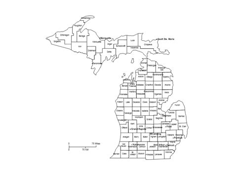 mi county map michigan counties major cities powerpoint map maps for