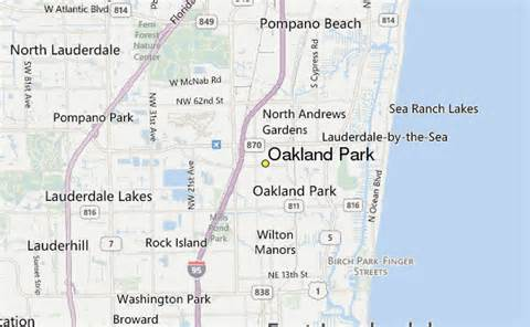 oakland park florida map oakland park weather station record historical weather