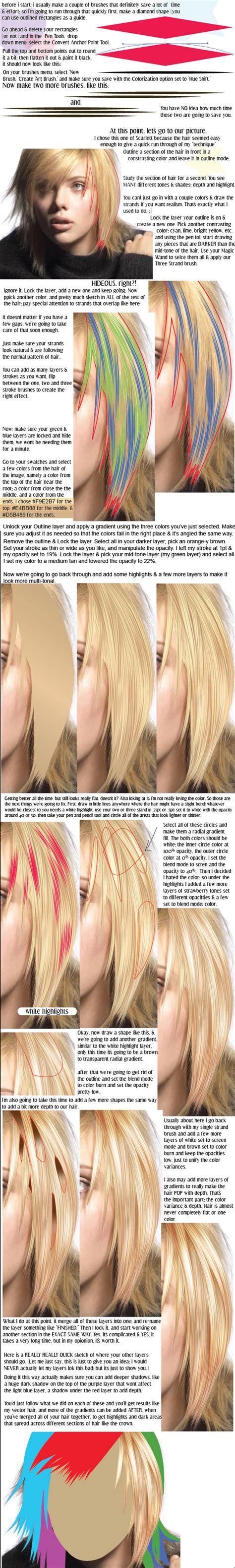tutorial vector hair vector hair tutorial by smashbabyy on deviantart