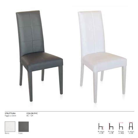 sedie in pvc sedie in pvc agnese 45x44x99 cm bakaji prezzi in offerta stock