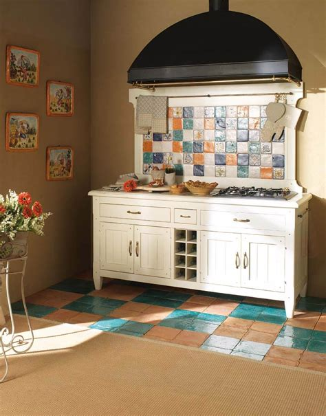 piastrelle colorate per cucina cucine in legno massello gallery mobiliacolori it