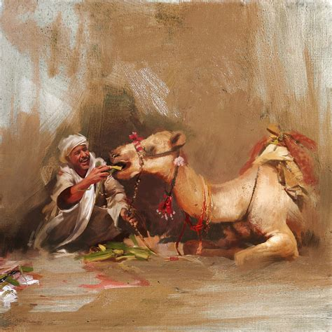 Home Decor Blogs Pinterest by Camels And Desert 13 Painting By Mahnoor Shah