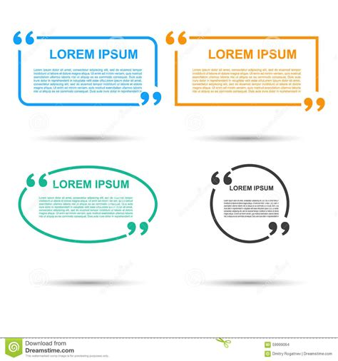 free circle business card templates quotation speech banner quote vector set icon stock