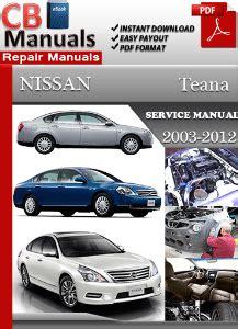 service and repair manuals 2012 nissan nv2500 user handbook nissan teana 2003 2012 service manual free download service repair manuals