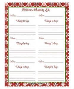 27 christmas gift list templates free printable word