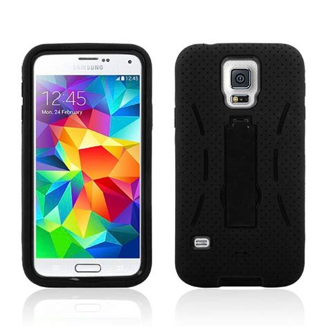Cover Samsung S5 I9600 Hybrid Armor Defender With Murah Samsung Galaxy S5 I9600 Rugged Armor Dual Layer Protective