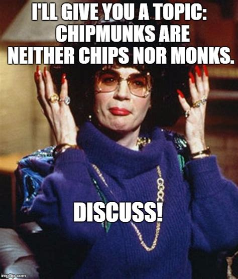 mike myers coffee talk meme chipmunks are neither chips nor monks imgflip