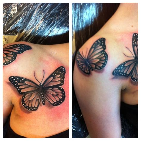 realistic butterfly tattoo black and grey artists orange county los angeles