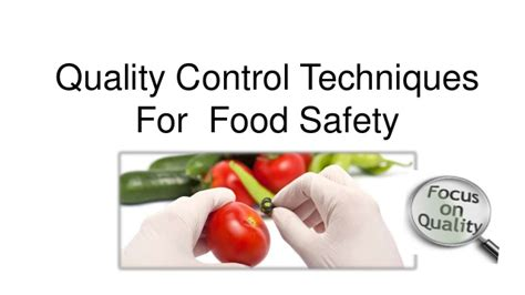 quality food quality techniques for food safety