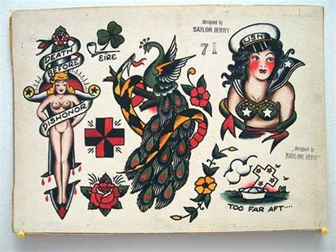 sailor jerry cross tattoo vintage flash spit shade antique