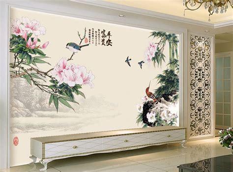 Papier Peint Paysage Mural by D 233 Coration Murale Papier Peint Tapisserie Asiatique