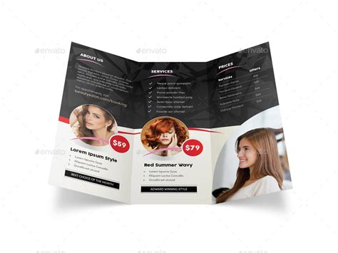 salon brochure hair salon trifold brochure 2 by mike pantone graphicriver